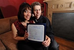 Same-sex couples to seek Pennsylvania marriage licenses today